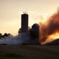 Barn Fire At Sunset